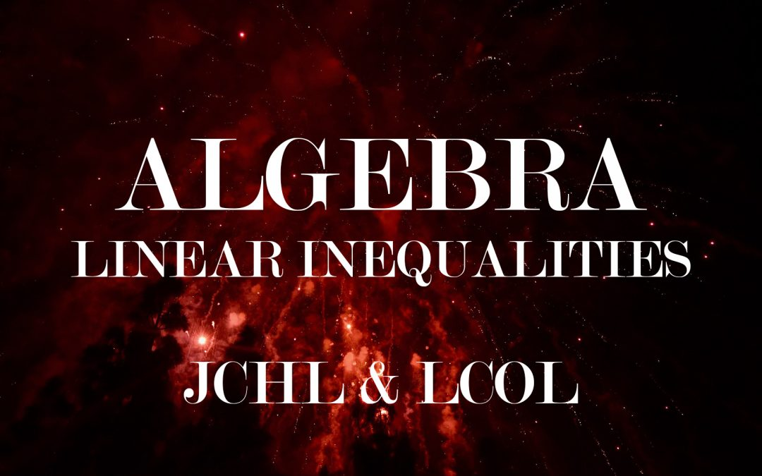 Algebra – Inequalities