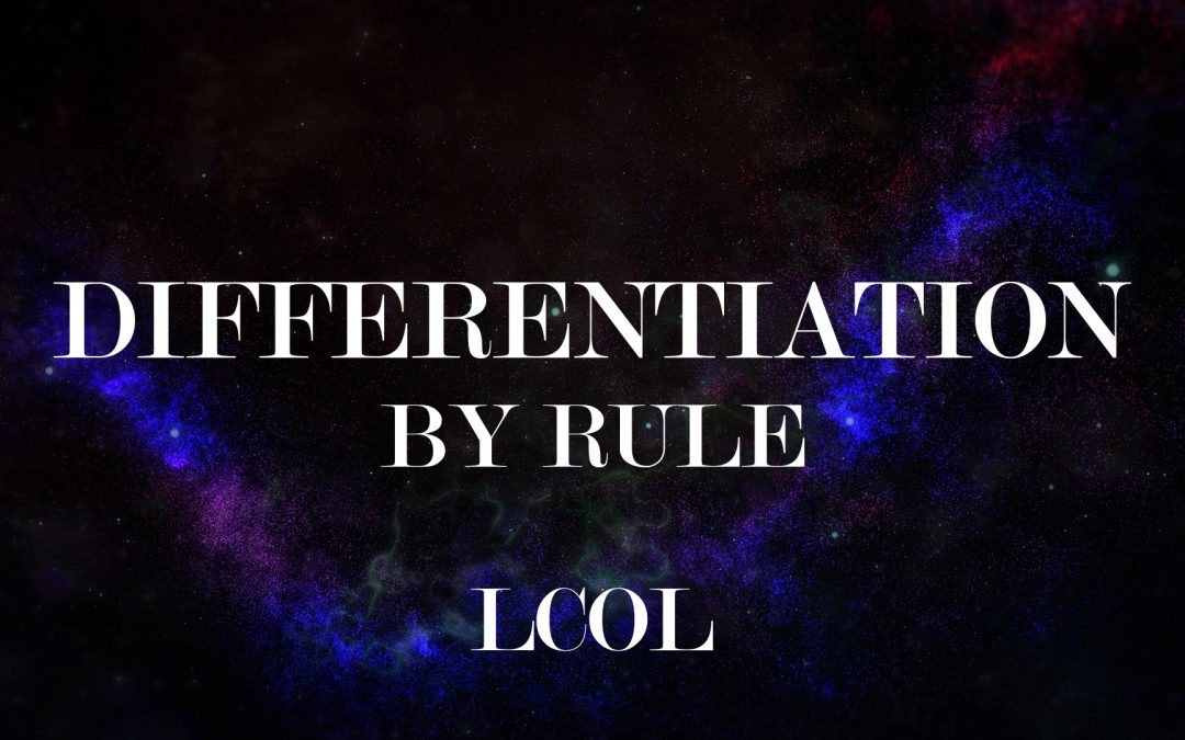 Differentiation – By Rule