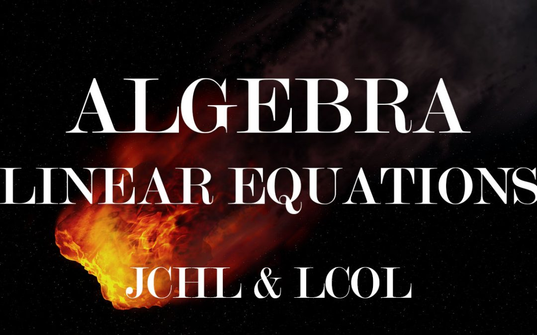 Algebra – Linear Equations