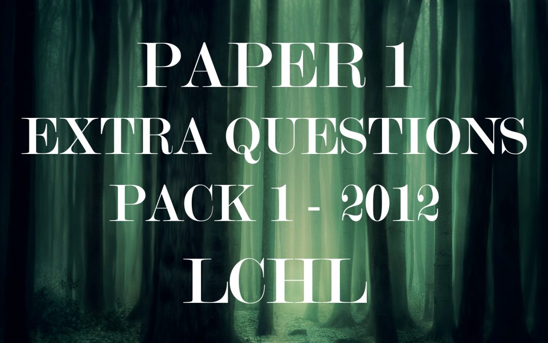 LCHL Extra Question Pack 1