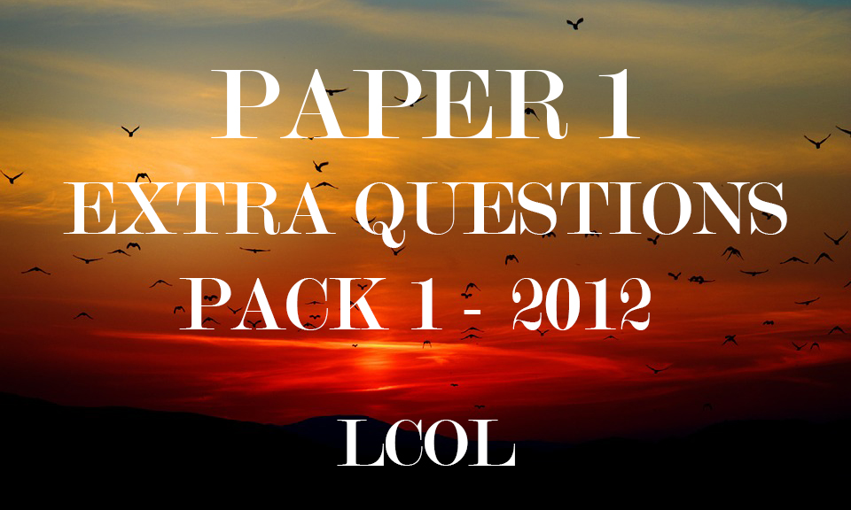 LCOL Extra Question Pack 1