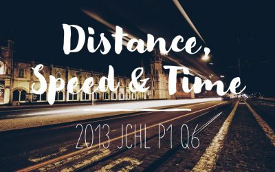 2013 JCHL P1 Q6 – Distance, Speed and Time