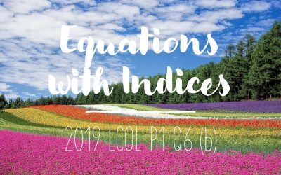 2019 LCOL P1 Q6 (b) – Equations with Indices